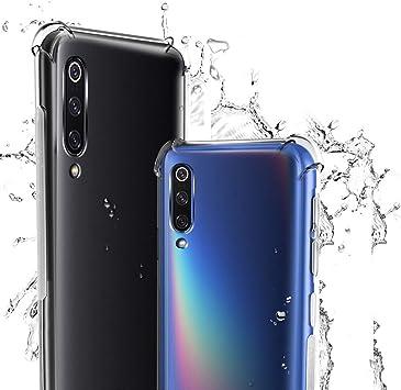 WUFONG Funda para Xiaomi Mi A3,Estuche para teléfono móvil,Caja del teléfono móvil Ultrafina Totalmente Transparente, Cubierta de airbag de Cuatro Esquinas Gruesa: Amazon.es: Electrónica