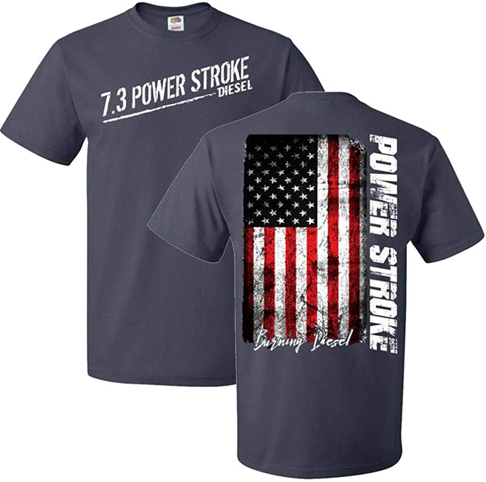 Aggressive Thread 7.3 Powerstroke T-Shirt with American Flag
