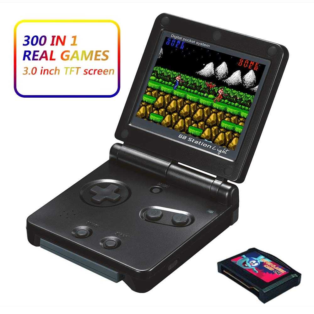 Xinguo Handheld Game Console, Portable Video Game 3 Inch HD Screen 300 Classic Games,Retro Game Console Can Play on TV, Good Gifts for Kids. (Black) by Xinguo (Image #1)