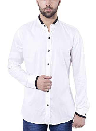 ddbe593e205abd Tag & Trend Men's Slim Fit Casual and Party Wear WHITE Shirt by TRADIX  INNOVATIONS (