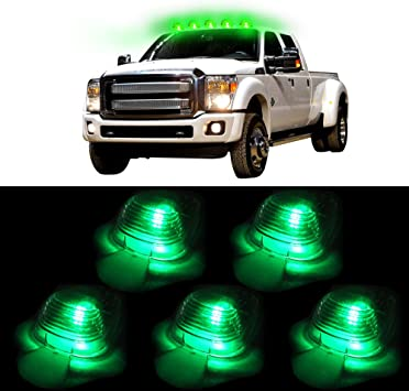 cciyu 5 Amber LED Smoke Cab Marker Clearance Light Assembly for Ford Super Duty Pickup For 1999-2015 Ford F550 F450 F350 F250 E350 E450 Super Duty E150 E250