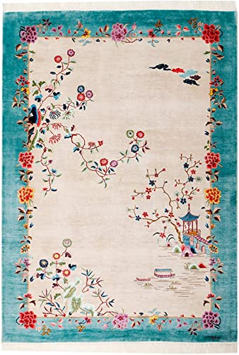Yilong 2 x3 Vintage Art Deco Handmade Silk Rug Oriental Chinese Carpet Mat