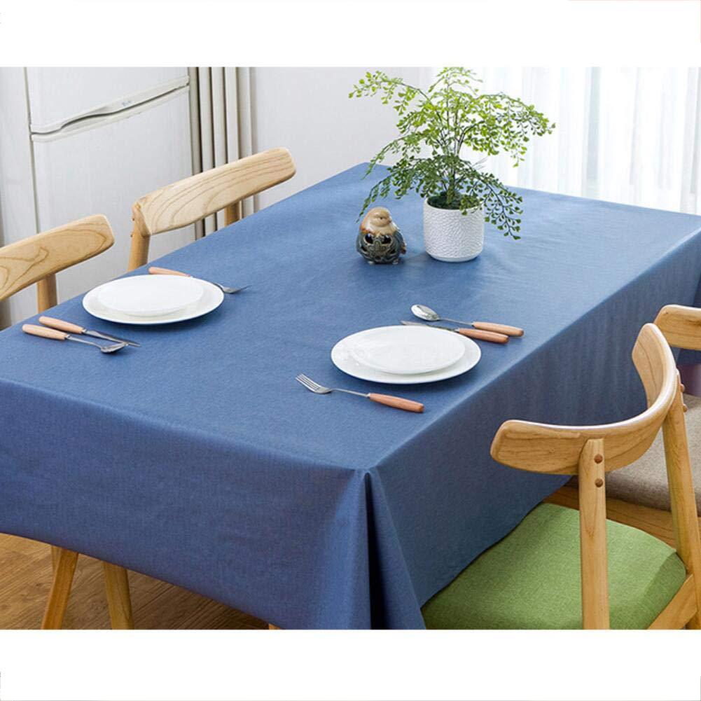 HOMEJYMADE PVCプラスチックテーブルクロス 防水 耐油 テーブルカバー 厚手 ビニール 長方形 拭き掃除 テーブルカバー 1.37*1m JKFPWFJM 1.37*1m B B07K58M2PG