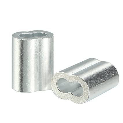 uxcell 1.2mm Cable Wire Rope Aluminum Sleeves Clip Crimping Loop ...
