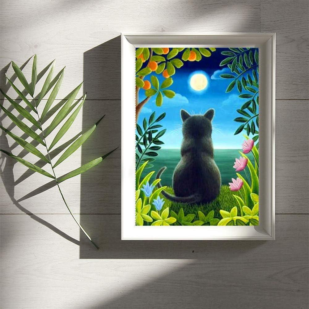 Kit de pintura de diamantes cuadrados 5D con n/úmeros,pinturas diy square diamond pintura de diamantes completo bordado de punto de cruz para gatos manualidades decoraci/ón de pared 30 x 40 cm