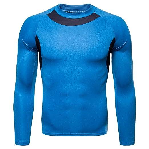 f429728bede Sagton Men s Autumn Winter Casual Long Sleeve Patchwork Sportswear Quick  Drying Blouse (M