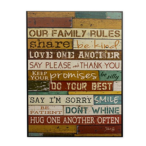 P. GRAHAM DUNN Our Family Love and Hug One Another Distressed Look 12 x 16 Wood Sign