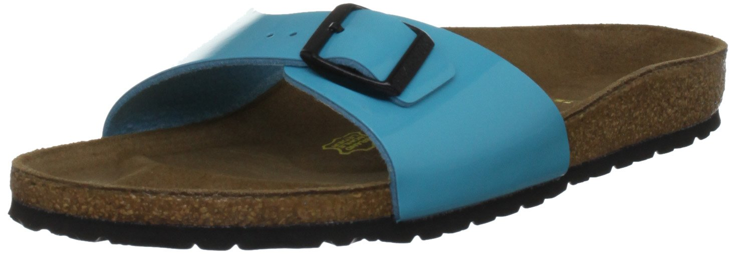 Birkenstock Sandals Madrid Fell Leather/fur - Blue - Womens - 41 by Birkenstock (Image #1)