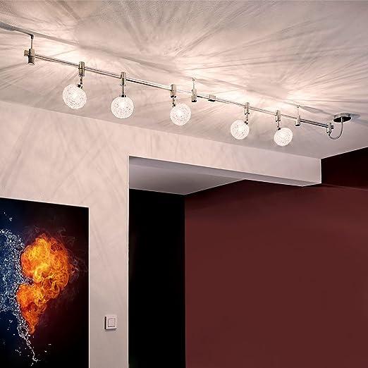Sistema de riel con luces LED para empotrar en techo, de alto voltaje, 200