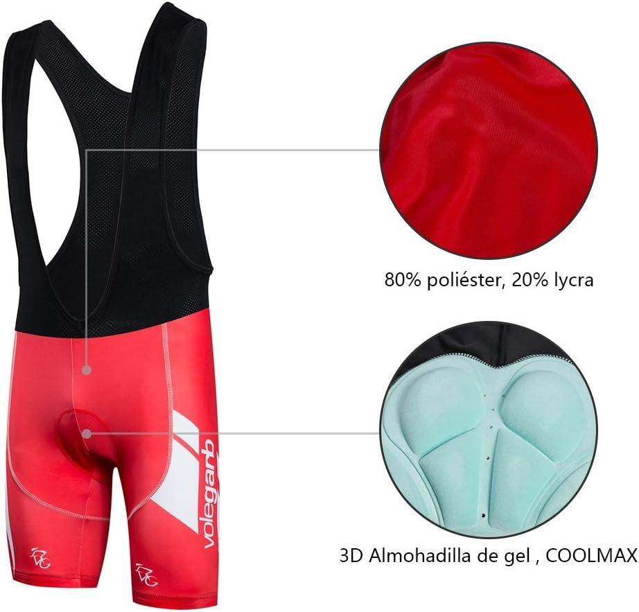 Un Conjunto de Ciclismo Jersey Maillot y Culotte Pantalones Cortos Feilaxleer Ropa Ciclismo Verano para Hombre y Mujer