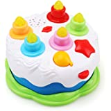 Amy & Benton Kids Birthday Cake Toy for Baby & Toddlers with Counting Candles & Music, Gift Toys for 1 2 3 4 5 Years Old Boys and Girls
