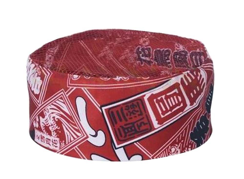 Black Temptation Japanese Style Hat Sushi Shop Chef Hat Waiter Hat Kitchen Hat [Red] by Black Temptation