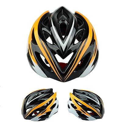 Lumière casque d'équitation en plein air, équipement de vélo de montagne de la route pour les hommes et les femmes - sécurité confortable, perméable à l'air, 18 * 15cm