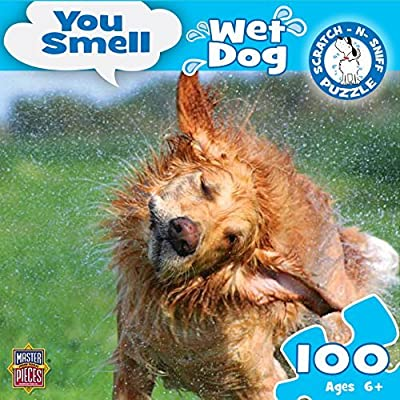 MasterPieces You Smell Wet Dog Jigsaw Puzzle, Art by Alamy, 100-Piece: Toys & Games