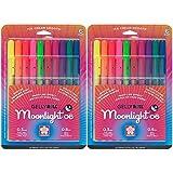 Sakura 58176 10-Piece Gelly Roll Blister Card Moonlight 06 Fine Point Gel Ink Pen Set, Assorted Colors (2-PACKS)