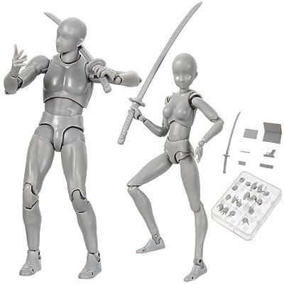Action Figure Modèle, Starall Mannequin Humain 2.0 Corps Kun Poupée Body-Chan Homme / Femme Action Figure DX Set avec Accessoires Kit pour Dessin, Esquisse, Peinture