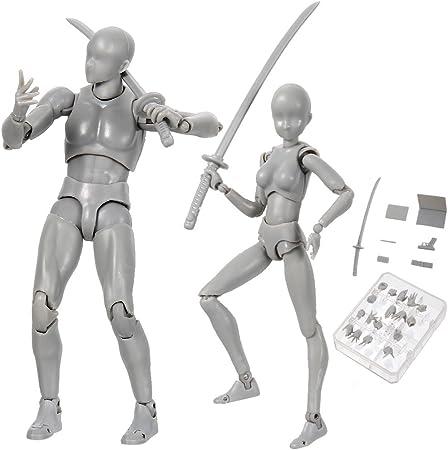 Carremark Body Chan /& Kun Doll Male Female DX Set PVC Movebale Action Figure Model for SHF Gifts