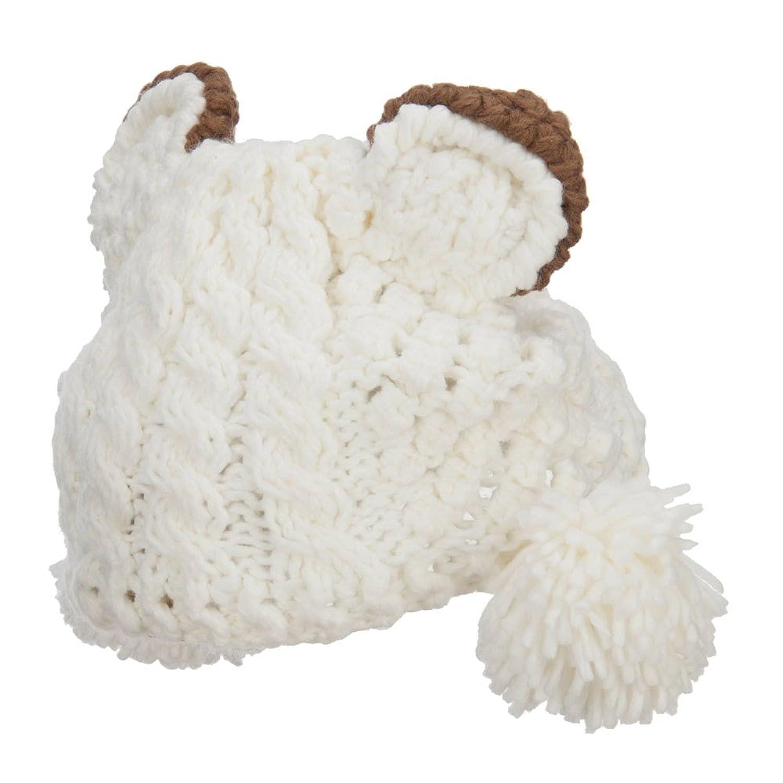 Girl's Pom Pom Knit Animal Ear Beanie