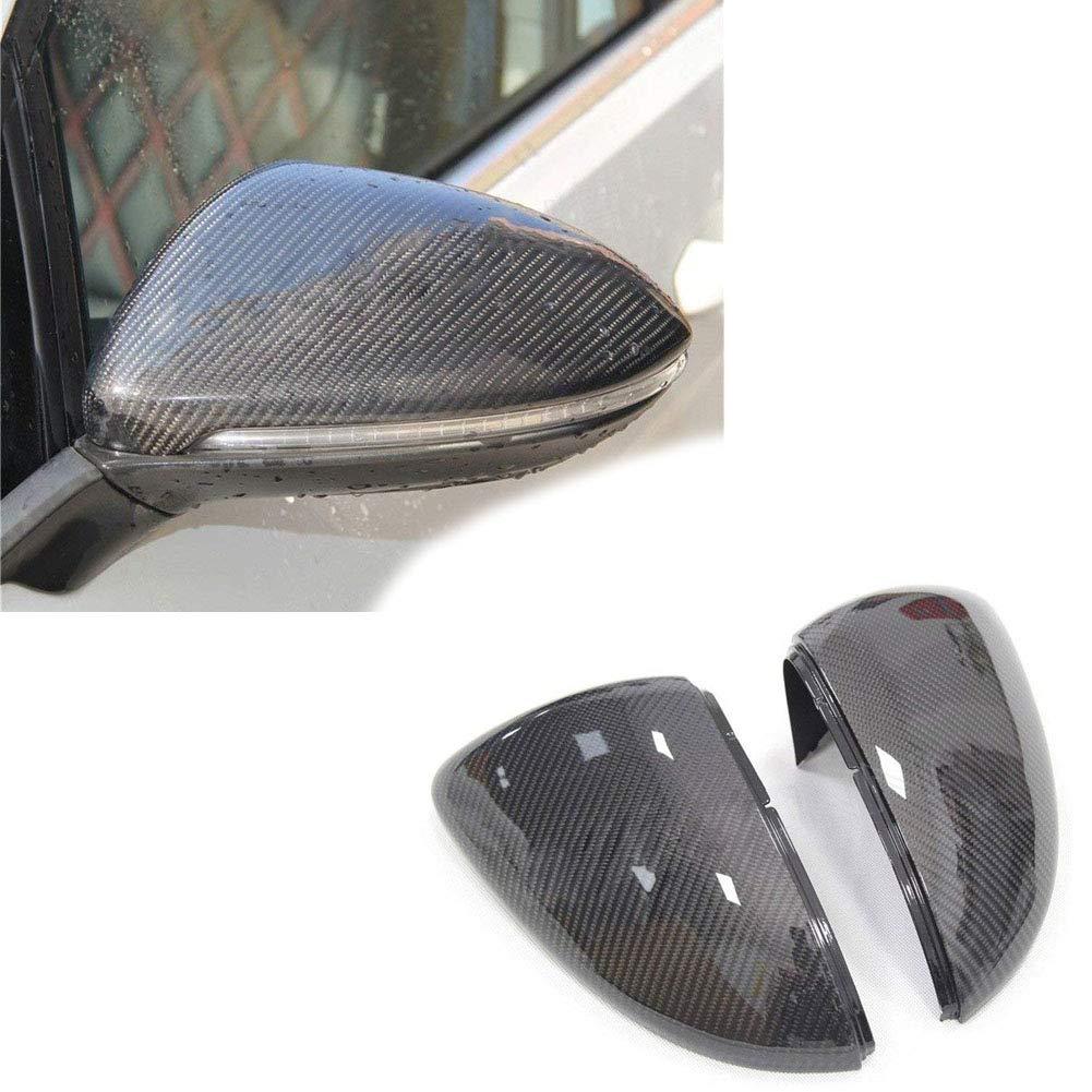 Autohelper Cubierta de espejo de la puerta lateral de fibra de carbono Cubierta del espejo Vista de la cubierta del espejo lateral: Amazon.es: Coche y moto