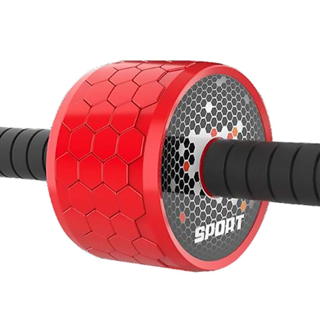 Sugoishop Wheel Roller Kit AB Roller Pro with Push-Up Bar, Jump Rope and Knee Pad Perfect Abdominal Core Carver Fitness Workout (Color : Red)