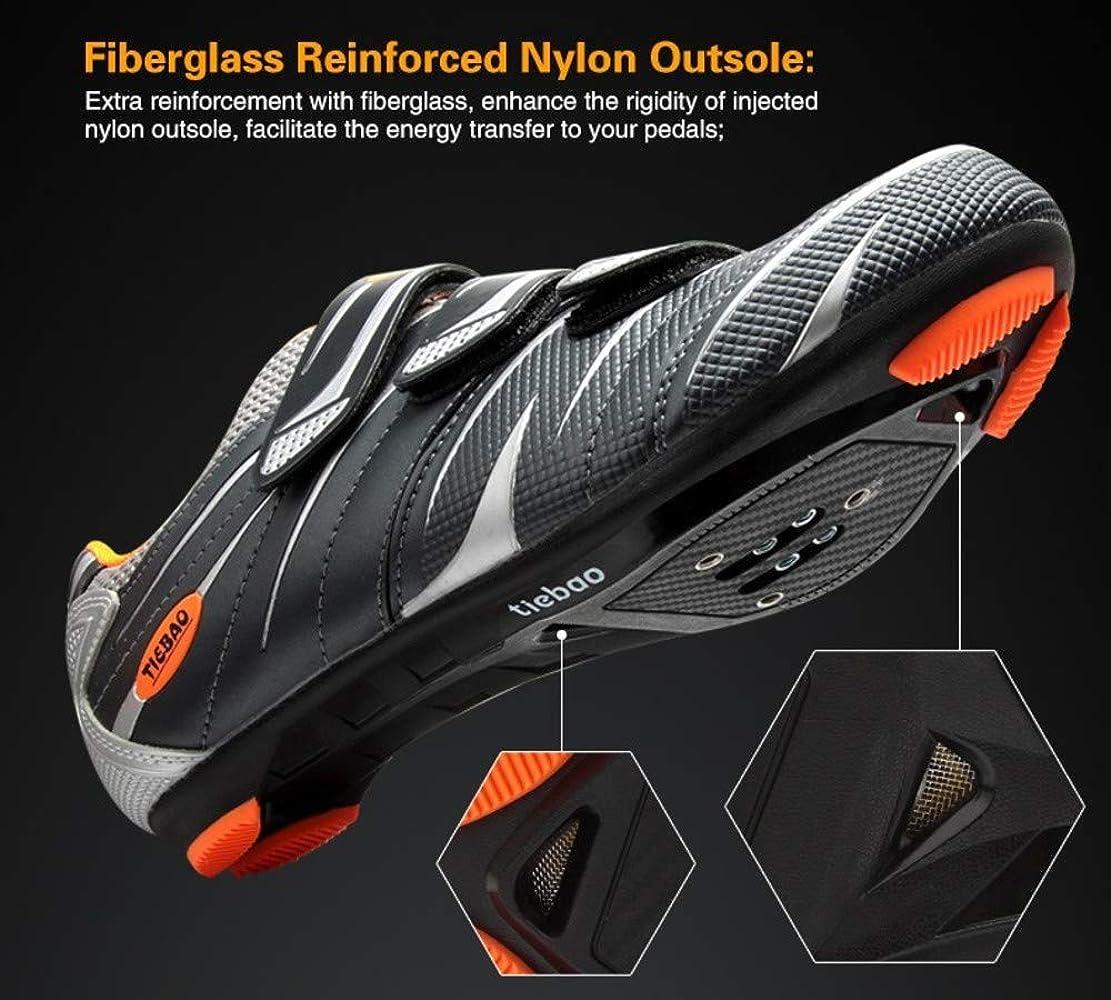 Tiebao - Zapatillas de Ciclismo de Sintético para Hombre, Color Blanco, Talla 36: Amazon.es: Zapatos y complementos