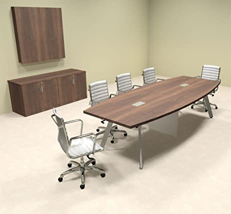 Amazoncom Modern Boat Shaped Feet Conference Table OFCON - 10 foot conference table