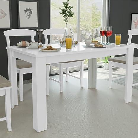 Festnight Tavolo da Pranzo/Tavoli da cucina 140x80x75 cm Bianco