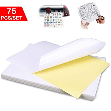 Amazon.com: 75 piezas A4 papel adhesivo brillante, etiquetas ...