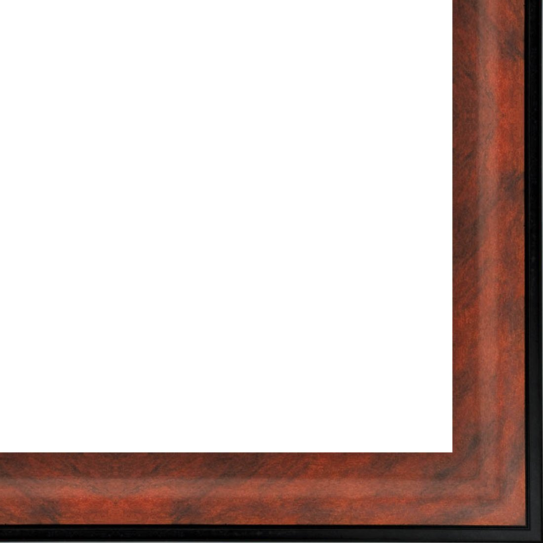 Picture Frame Moulding (Wood) 18ft bundle - Contemporary Mahogany Finish - 2'' width - 3/8'' rabbet depth