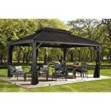 Sojag Messina Hard Top Sun Shelter, 12' by 16', Charcoal