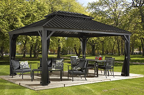 This Hard Top Gazebo Boasts A Generous 12u0027x16u0027 Size Ideal For Backyard Get  Togethers Or Just Keeping The Family Cool And Shaded.