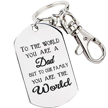 Fengteng Silver Dog Tag Porte-clés Homme Rectangle avec porte-cléPour le  monde tu f6e80ee316d