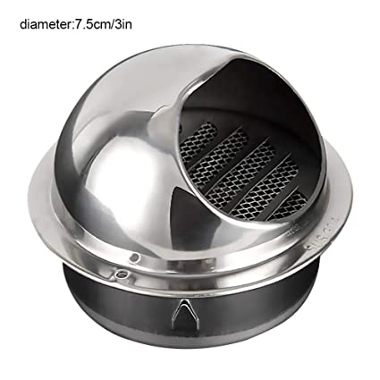 Amazon.com: Sanmubo Stainless Steel Vent Outlet Hood Outdoor ...
