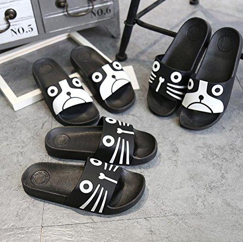 Tamaño Negro Zapatillas de Duraderas de creativos Negro verano SUxian antideslizantes Zapatillas Color Sandalias Dibujos baño Zapatillas 41 40 animados qIxzzCZw6