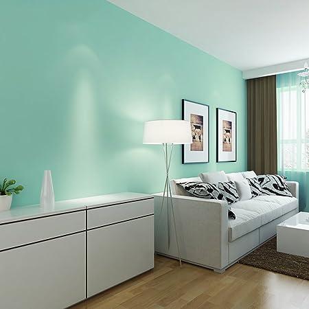 Lisabobo Lisa Pure Colour Blue Pvc Wallpaper Bedroom Living