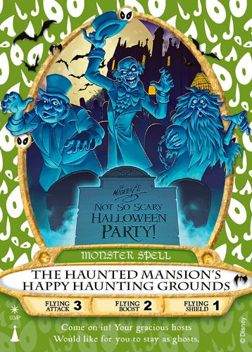 (Sorcerers of the Magic Kingdom Card 03/P: The Haunted Mansion's Happy Haunting Grounds (Hitchhiking Ghosts) Monster Spell from Walt Disney World WDW Mickey's Not-So-Scary Halloween Party)