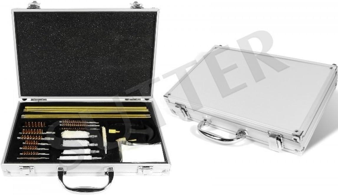 SUTTER Amplio Set de Limpieza para Armas/Accesorios para el Cuidado y la Limpieza de Armas