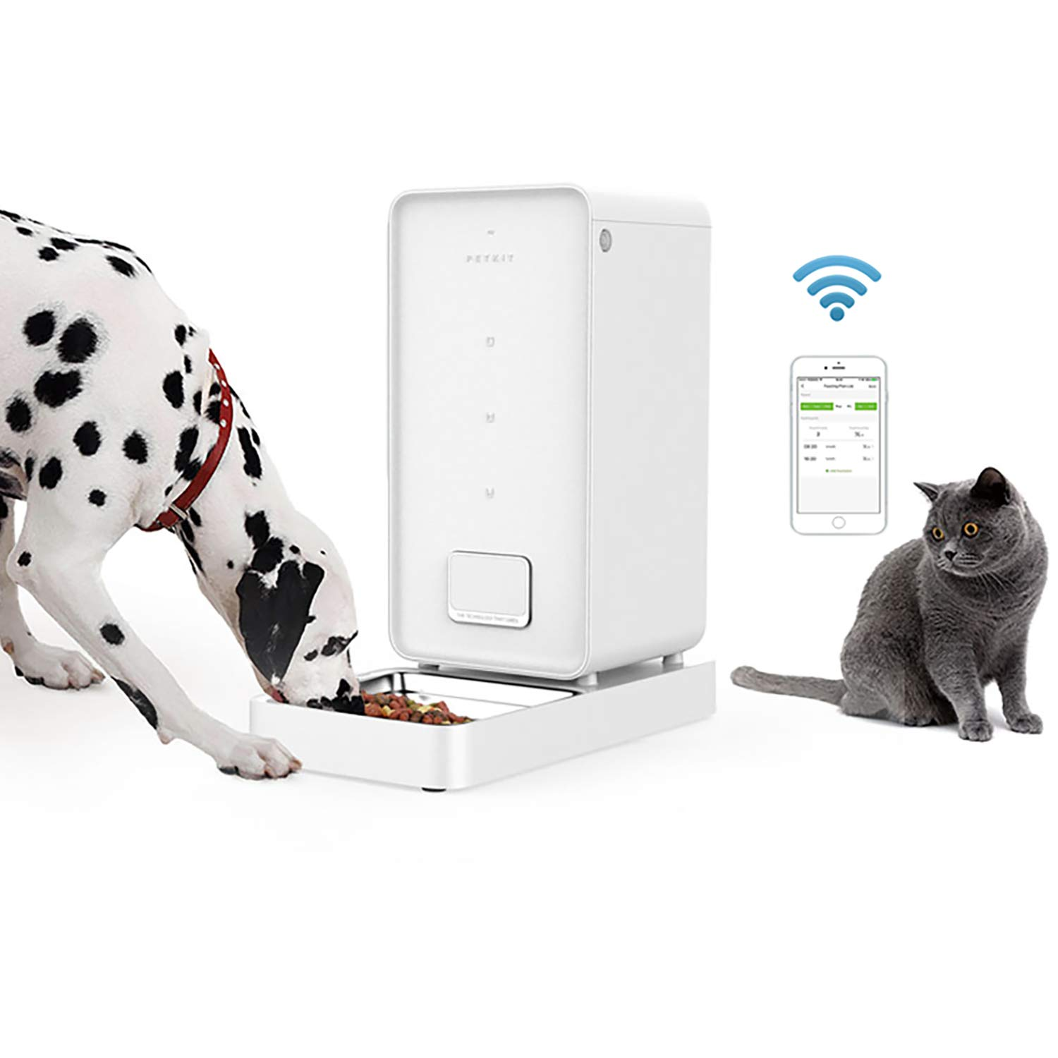 PETKIT Automatic Pet Feeder, Smart Food Feeder for Cats and Dogs - A Never Stuck Auto Dog Food Dispenser, Wi-Fi App Control, Timer Programmable, Work with Alexa(5.9L Large Capacity)