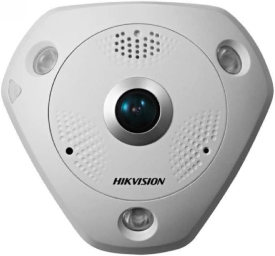 Hik127 Hikvision Ds 2cd63c2f Ivs 12mp Fisheye Network Camera Poe 15m Ir Ip66 W Audio Alarm Io Baumarkt