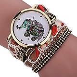 Creazy® Women Girl Rhinestone Elephant Pattern Quartz Bracelet Wrist Watch