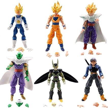 Amazon Com Dragon Ball Z 6x 5 Figures Piccolo Cell Trunks Super