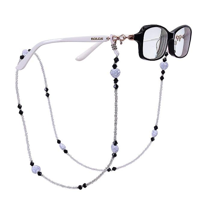 Amazon.com: RANHUU - Cadenas para gafas de lectura ...