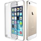 iPhone 5/SE Custodia. Kingshark ultra caso della copertura della cassa [sottile sottile] gomma flessibile del gel di TPU molle del silicone pelle protettiva per iPhone 5/SE Trasparente