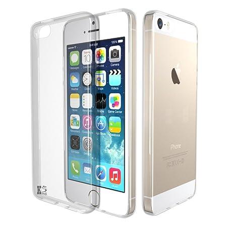 iPhone SE Hülle, KingShark TPU Schutzhülle Ultradünn Weich Flexibel Silikonhülle für iPhone SE/5s/5 (transparent)
