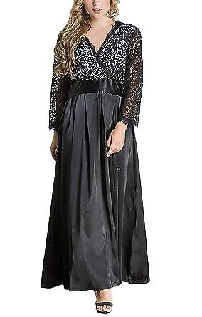 1649bac1d Mujer Vestidos De Fiesta Para Bodas Largos Invierno Otoño Elegantes Coctel  De Noche Vestido Tallas Grandes
