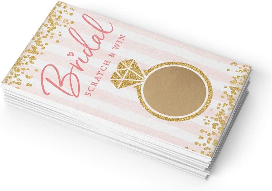 Juego de rascar para despedida de soltera, 30 cartas, boletos de lotería para novia, ideas de boda: Amazon.es: Salud y cuidado personal