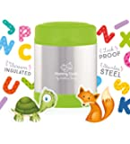 Mummy Cooks - Lunchbox Enfant Isotherme Inox 300ml (Vert) - STICKERS OFFERTS
