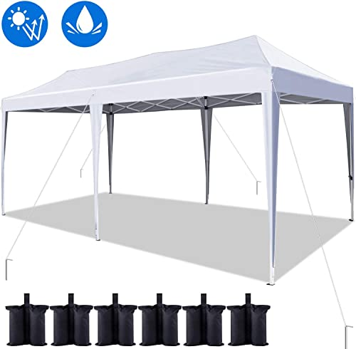 Quictent 10×20 ft Easy Pop up Canopy Tent Instant Canopy Shelter Folding Party Tent