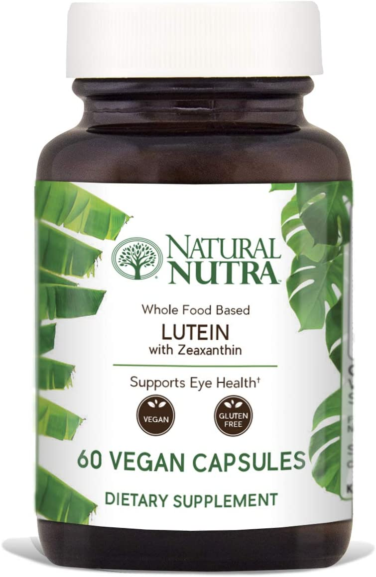 Natural Nutra Lutein and Zeaxanthin Supplement, Whole Food F