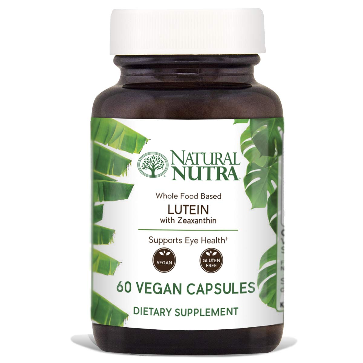 Natural Nutra Lutein and Zeaxanthin Supplement, Whole Food Formula, Soy Free, Vegan and Vegetarian, LutemaxTM 2020, 20mg, 60 Capsules